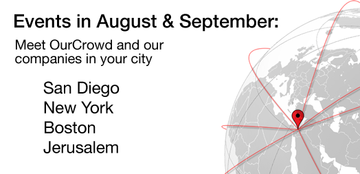 OurCrowd events in August and September