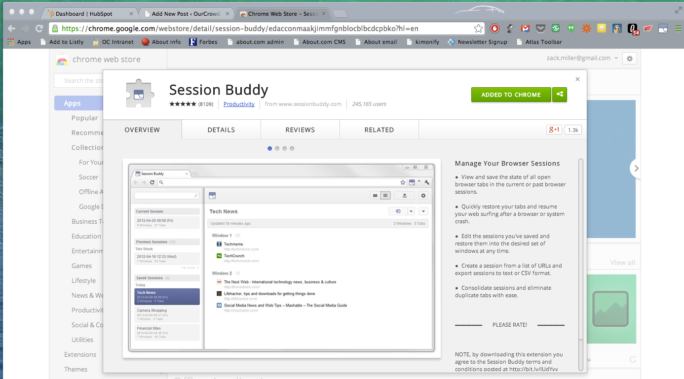 Session Buddy -- App of the Week