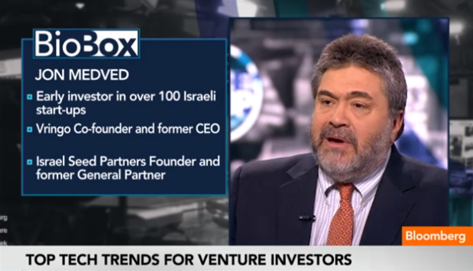 OurCrowd's Jon Medved On BloombergTV: Driverless Cars, Investing in Regions of Conflict & Funding the Next Big Tech Startup