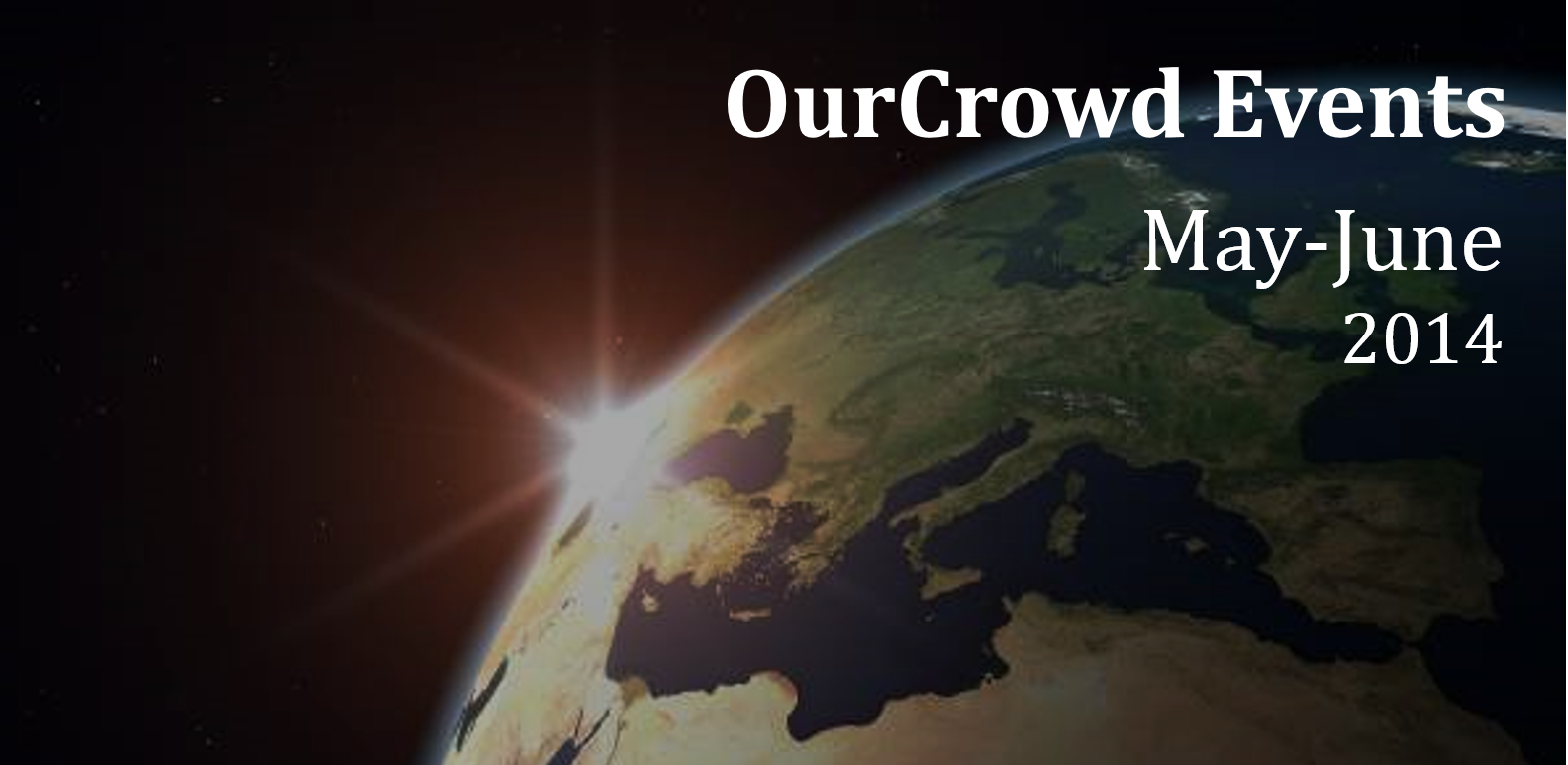 OurCrowd Events May-June