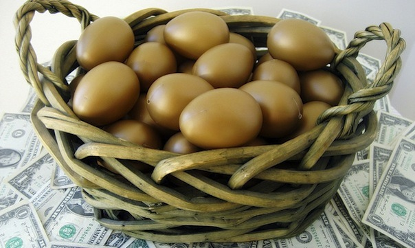 eggs in basket money