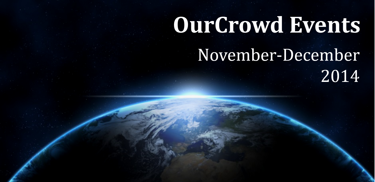 OurCrowd Events November-December