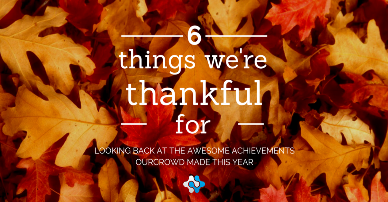 Happy Thanksgiving! 6 awesome things we're thankful for this year