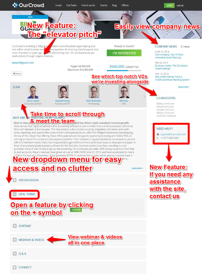 Redesigned 'Deal Page'