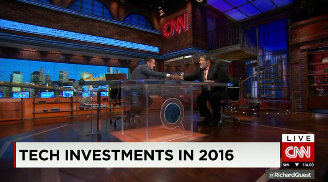 "OurCrowd's Jon Medved featured on CNN: ""Tech Investments in 2016"""