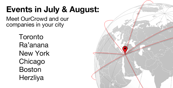 OurCrowd events in July and August
