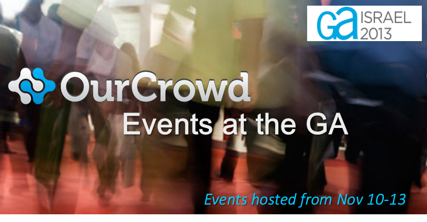 Experience the Startup Nation with OurCrowd at the GA