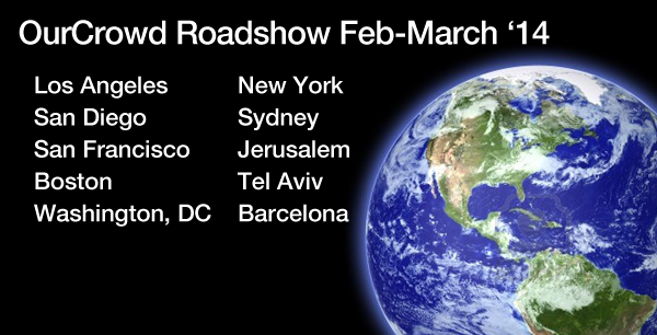 OurCrowd Roadshow Events February-March