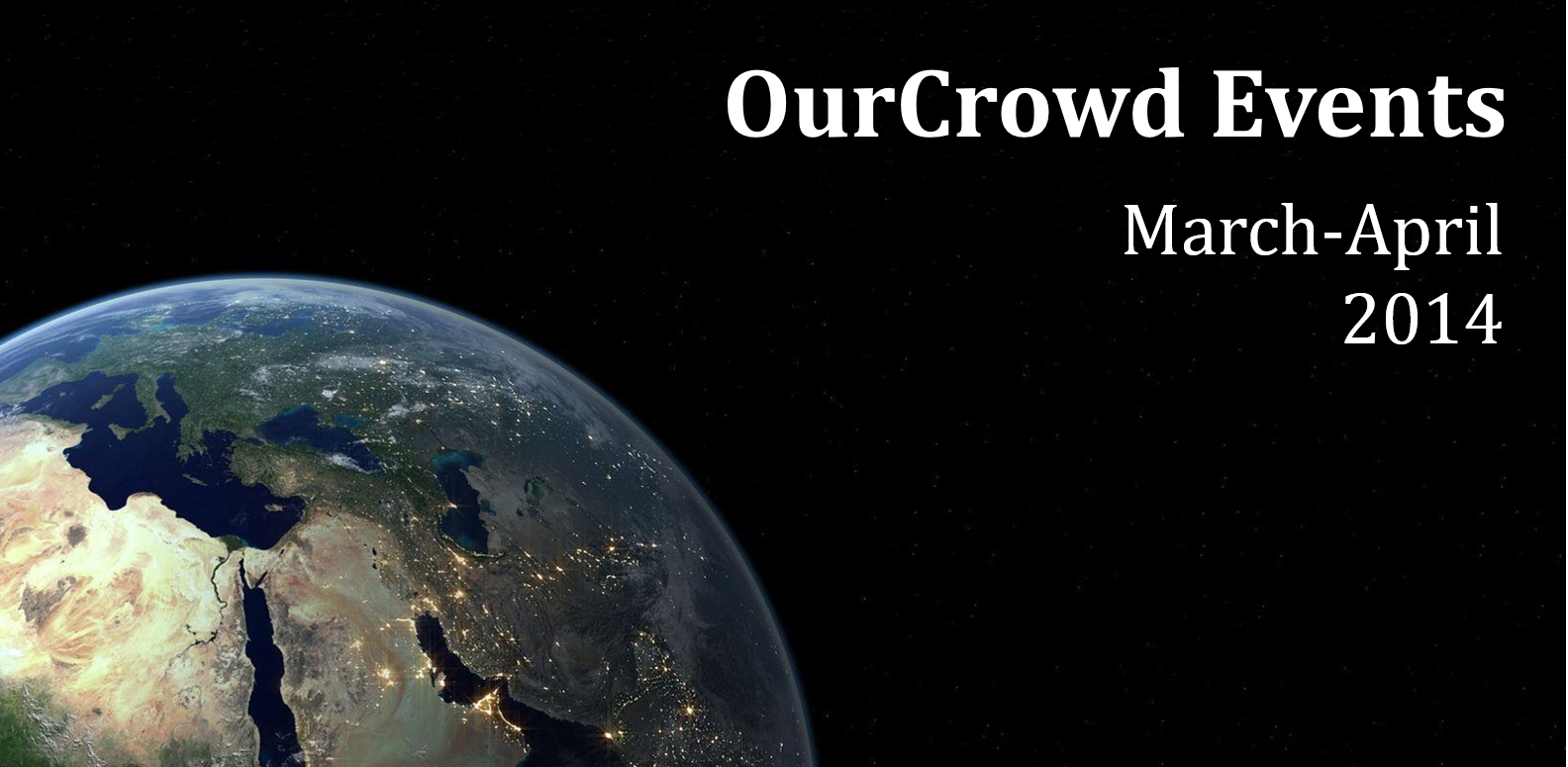 OurCrowd Events March-April