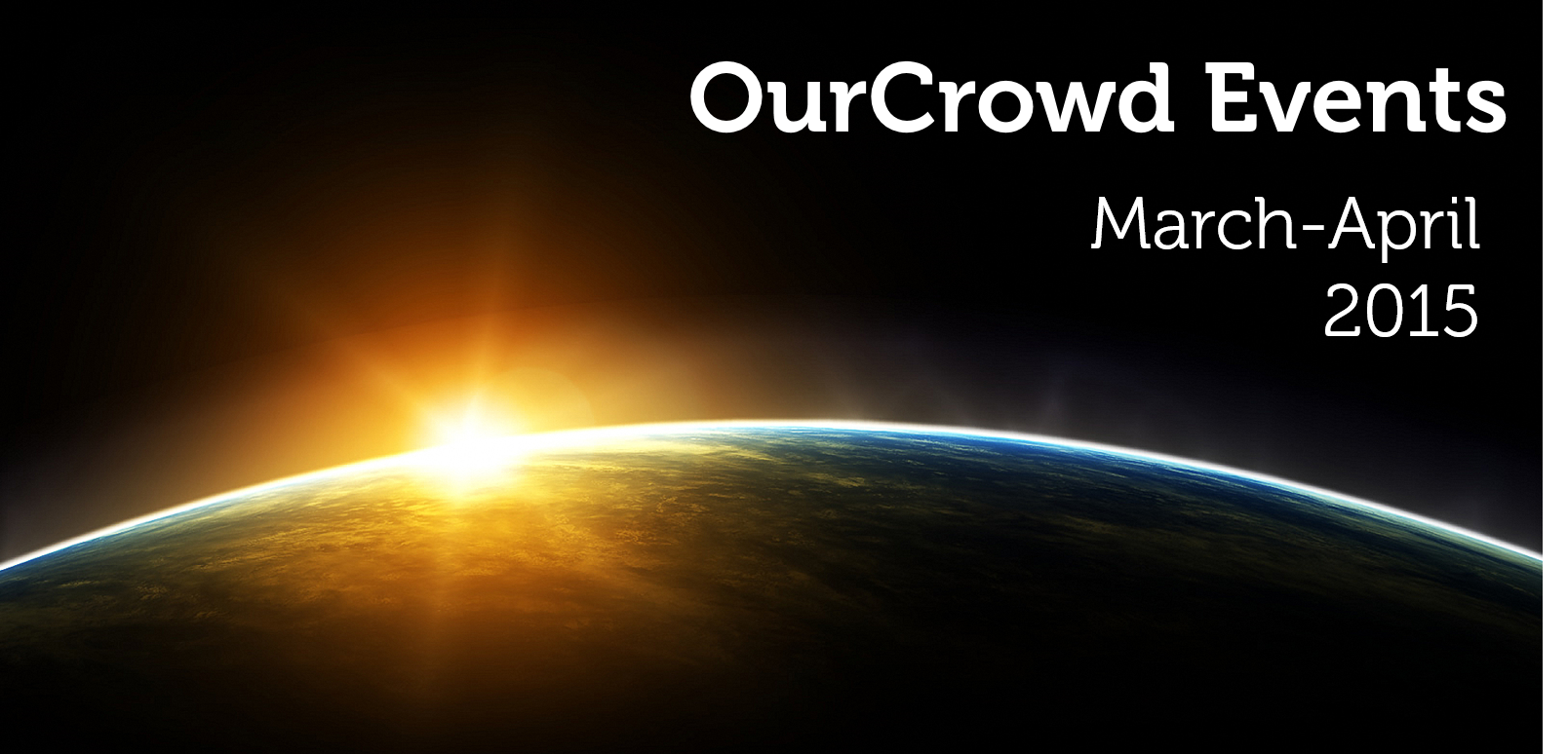 OurCrowd Events March-April 2015