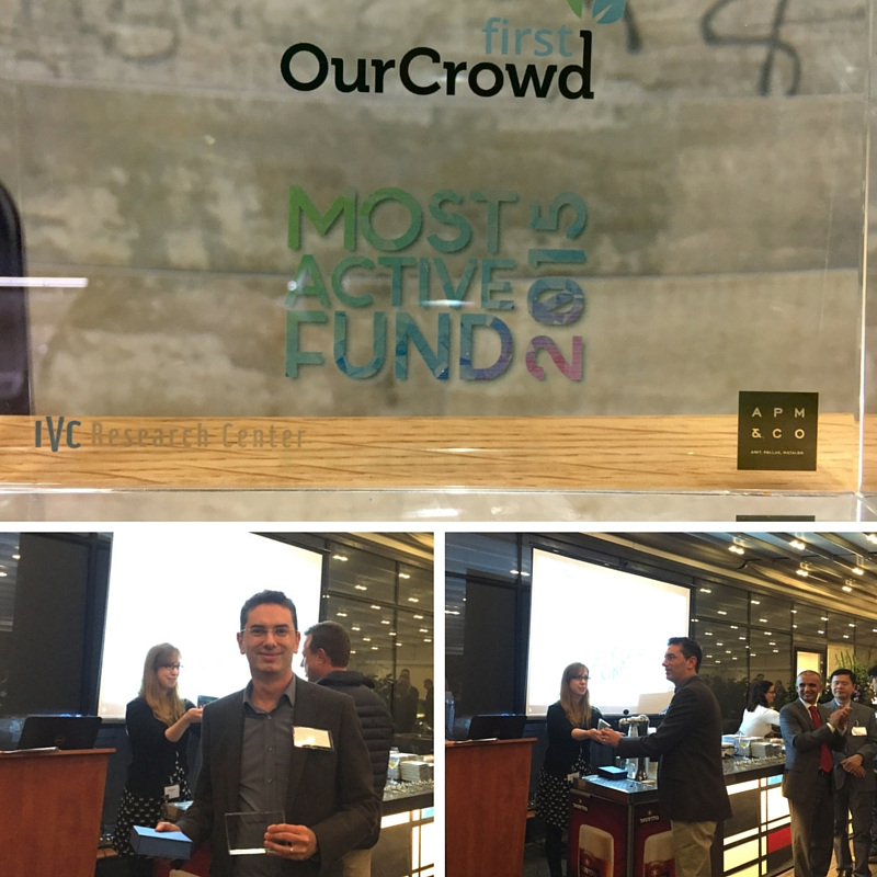 Shai Ben-Tovim accepting OurCrowd First's award