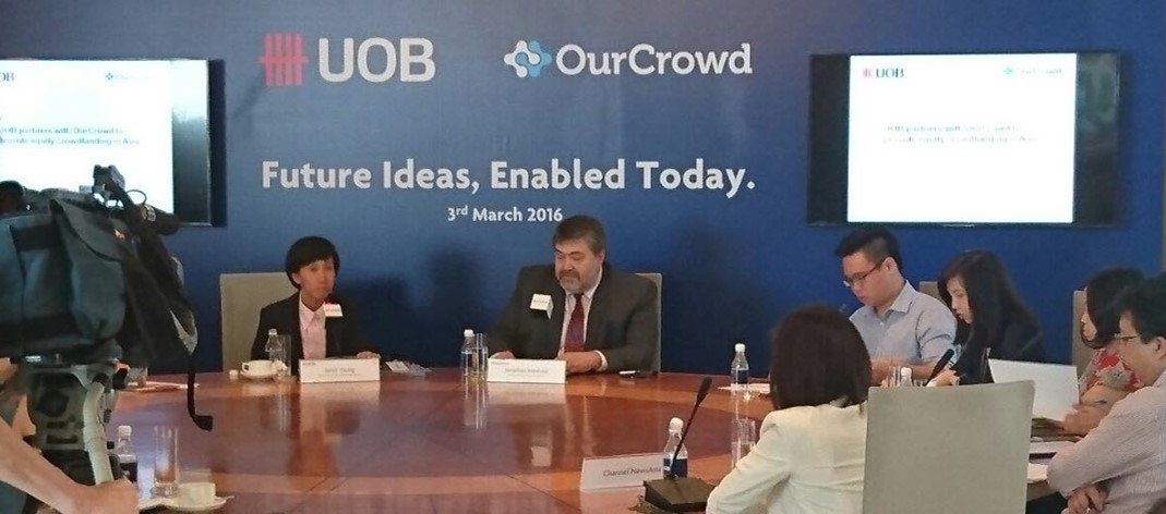 Gateway to Asia: OurCrowd announces strategic partnership with UOB to bring equity crowdfunding to Singapore