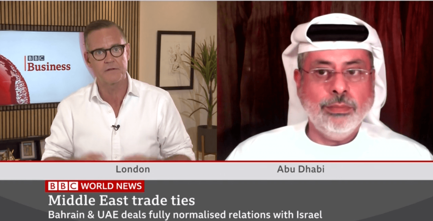 """Dr. Sabah al-Binali, OurCrowd Venture Partner says, """"The appetite is there"""" in the Arab world for more trade with Israel (BBC World News)"""
